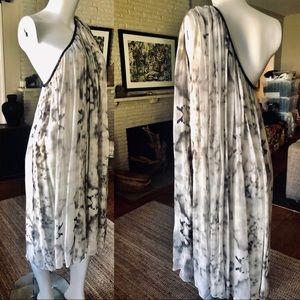 Thomas Wylde one shoulder silk cloudy day dress